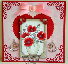 SweetStamps challenge 2/4/14 Pink, Red and White; DT Annette