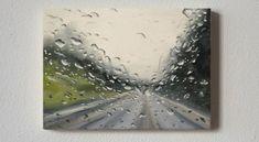'November Skies' Oil on canvas, France's McCrory Lifehacks, Rain Painting, Biro, Art Pictures, Tricks, Oil On Canvas, Art Pieces, Images, Fine Art