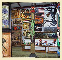 Around Back at Rocky's Place folk art gallery - Dawsonville, GA
