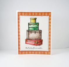 So Long Farewell Card Goodbye Bon Voyage by PiecesOfMePaperCraft