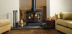 Double Sided Wood-Burning Fireplace   Yeoman Double-Sided Stove