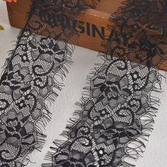 Hoomall Марка 9.5 см Широкий Сетки Кружевной Ткани Кружевной Отделкой Ресниц Кружева Вышитые кружева Лента 2 Шт. (3 М/КАТУШКА) швейная Фурнитура
