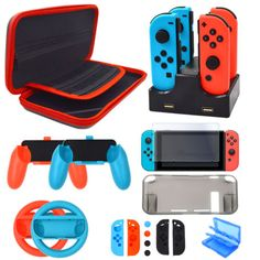 Accessories Kit for Nintendo Switch Games Starter Wheel Grip Caps Carrying Case Screen Protector Controller Charger In Nintendo Switch Accessories, Computer Accessories, Ps Wallpaper, Nintendo Switch Games, 3d Prints, Apple Products, Screen Protector, Card Games, Playstation