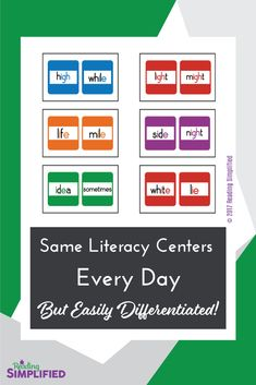 Rely on a handful of centers year-round, yet easily differentiate them. I share examples of how a simple center can be adapted for differing ability levels. Decoding Strategies, Reading Incentives, Struggling Readers, Philosophy Quotes, Reading Intervention, Student Motivation, Teacher Organization, Elementary Teacher, Differentiation