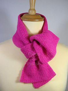 Scarf crocheted with very thin yarn Sciarpa di PyrosePatch su Etsy
