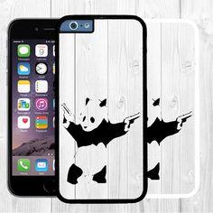 """Cool Banksy iPhone 6 Case Panda Graffiti iPhone 6 Small Case 4.7""""  #Art #Banksy #Graffiti #iPhone6 #iphone6case #iphone6cover #Panda #SmalliPhone6Case Gift idea"""