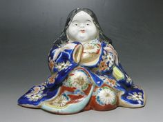 Antique Japanese Porcelain Young Woman Doll in Kimono