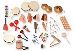 "DELUXE 35-piece RHYTHM BAND Set -  includes: 2 - Cluster Bells  1 - Cowbell with handle & mallet  1 - Cymbal  1 - Pair of Cymbals  1 - Den Den.   1 - Guiro   1 - Guiro Tone Block 1 - Hand Drum.  2 - Handle Castanets 2 - Jingle Taps  3 - Jumbo Shaker Eggs 1 - Pr. Maracas 1 - Rainbow Shaker  3 - Pr. Rhythm Sticks  2 - Pr. Sandblocks 2 - Tambourines  2 - Pr. Tap Taps 1 - Tick Tock Block 1 - Tom Boy 1 - Tom Tom   1 - Triangle 4"" 1 - Triangle 6"" 3 - Wrist Bells.  Storage Bin"