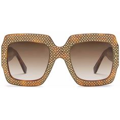 6752c7125ac Gucci Oversized Rhinestone Sunglasses in Tortoiseshell Acetate (15.960.880  IDR) ❤ liked on