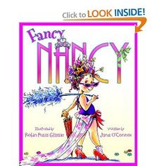 Fancy Nancy is Splendiferous!   Lots of wonderful vocabulary with the Queen of Everything.  Great book to use to teach about synonyms or ways to make your writing more interesting by using some fancy words.