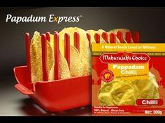 Papadum Express® - Maharajah's Chilli Pappadam. Microwave cook 10 papads in 60 seconds!