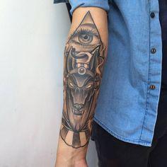 Anubis tattoo.