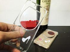 goblet case for iphone 6, goblet case for iphone 6 plus, red wine case for iphone, iphone red wine case, red wine tpu case for iphone