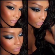 Black girl makeup African American a Brown skin