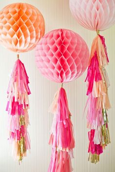 honeycomb balloons with tassels