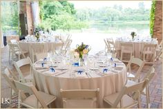 Mystical outdoor wedding with blue, lavender, green, yellow and white details at #ChicagoBotanicalGarden. Photos by Cristina G Photography.