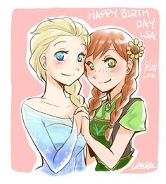 Nice drawing, but Anna's eyes are a blue/teal, not green.