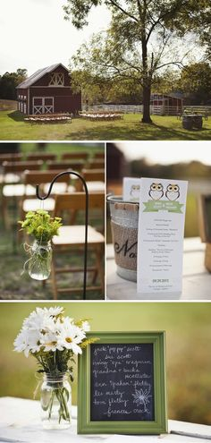 Yellow & Green Wedding in Virginia - featuring MagnetStreet's Love Owlways Tea-Length Wedding Program personalized in yellow and green!