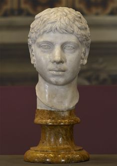 Elagabalus. Marble. 220—221 CE. Height 46 cm. Inv. No. MC470. Rome, Capitoline Museums, Palazzo Nuovo, Hall of the Emperors (Musei capitolini, Palazzo Nuovo, Sala degli Imperatori)