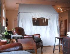 An Instant Guest Bedroom—Made from Canvas