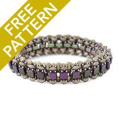Breezeway Bangle Pattern for CzechMates | Fusion Beads