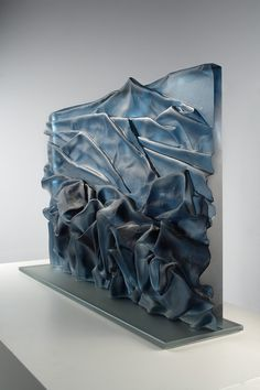 Karen LaMonte is a contemporary artist working with many mediums, particularly monumental cast glass, bronze, rusted iron and monotype prints. Art Of Glass, Fused Glass Art, My Glass, Water Glass, Cast Glass, Glass Ball, Slumped Glass, Glass Installation, Cardboard Art