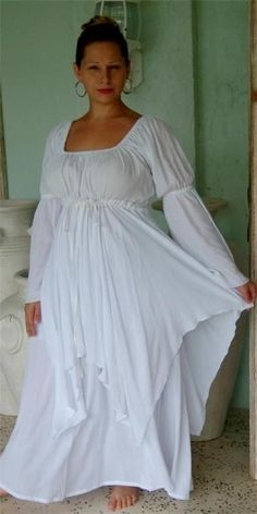 28fdf489ee6 white-dress-peasant-layered-renaissance-M-L-XL-1X-2X-3X-4X-ONE-SIZE-PLUS- SIZE. very similar to the dress I ll be wearing. Of course mine will be