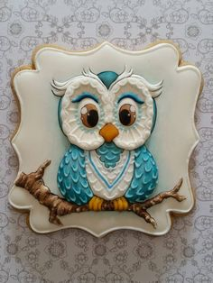 15 models of owl cakes, they are all adorable! Cookies Cupcake, Deco Cupcake, Galletas Cookies, Fancy Cookies, Cookie Icing, Iced Cookies, Cute Cookies, Yummy Cookies, Cookies Et Biscuits
