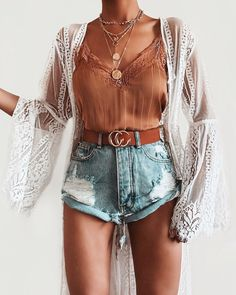 Adorable Outfit Ideas - 1 — Marie's Looks Cute Summer Outfits, Cute Casual Outfits, Short Outfits, Spring Outfits, Mode Outfits, Fashion Outfits, Denim Shorts Outfit, Latest Fashion For Women, Womens Fashion