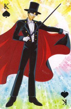 Tuxedo Mask card K of spades by marco albiero Sailor Moon Party, Sailor Moon Crafts, Sailor Moon Costume, Sailor Moon Manga, Tuxedo Mask, Sailor Moom, Sailor Moon Wallpaper, Moon Princess, Cartoon Tv Shows