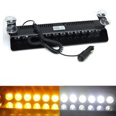 (39.99$)  Buy here - http://aiywg.worlditems.win/all/product.php?id=32674919655 - Car Truck 12 LED Amber White DashBoard Emergency Strobe Flashing Lights