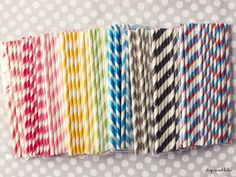 LOVE.Paper straws in a heap of great colors