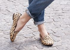 jeans + calf hair loafers
