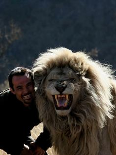 "Kevin Richardson, aka ""The Lion Whisperer""  this is possibly the coolest picture ive ever seeeeeeen....!!!!!!!!!!"
