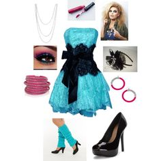 A fashion look from January 2016 featuring Sif Jakobs Jewellery bracelets, Bling Jewelry necklaces and Blu Bijoux earrings. Browse and shop related looks. 80s Prom Dress Costume, 80s Party Costumes, 80s Party Outfits, 80s Costume, 80s Outfit, 80s Dress, 80s Party Dress, Fancy Dress, 80s Fashion Party