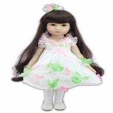 18 pouces bébé reborn silicone poupées 45 m Belle petite robe mignon poupée(China (Mainland))
