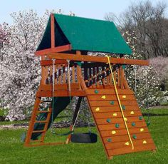Good use of space for play structure