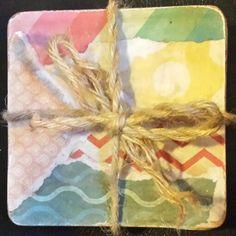 Homemade Coasters for Shower gift #cateclancyoriginal