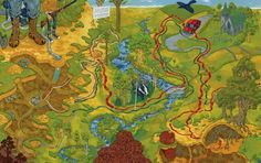 Watership Down by Richard Adams   9 Awesome Literary Maps Every Book Lover Needs To See