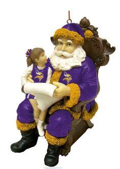 Viking Christmas, Santa Christmas, Christmas Ornaments, Seasonal Decor, Holiday Decor, Room Ideas, Decor Ideas, Minnesota Vikings, Football