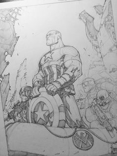 Step 3--all the important stuff is in--add detail/shadows. - Joe Madureira