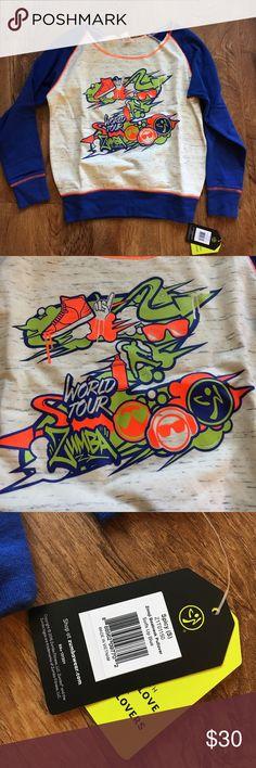 Zumba Crew Sweatshirt Brand New With Tags Zumba Crew Sweatshirt Brand New With Tags Zumba Fitness Sweaters Crew & Scoop Necks
