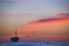 Offshore Oil And Gas Rig In The Pacific by James Forte