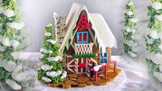 Gingerbread House tutorial coming soon for Christmas!