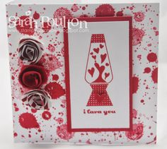 Stampin' Sarah! Stampin' Up! Gorgeous Grunge Valentines card. Also uses Crazy Mixed Up Love stamp set too.