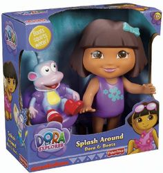 Fisher-Price Dora The Explorer Splash Around Dora and Boots Dora the Explorer http://www.amazon.com/dp/B005VQGB7O/ref=cm_sw_r_pi_dp_iLujwb0GSJ35Q