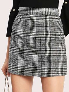 Wales Check Zip Back Skirt EmmaCloth-Women Fast Fashion Online Mobile Site skirt Plaid Zip Back Bodycon Skirt EmmaCloth-Women Fast Fashion Online Fall Skirts, Cute Skirts, Plaid Skirts, Fall Outfits, Casual Outfits, Cute Outfits, Fashion Outfits, Girly Outfits, Office Outfits