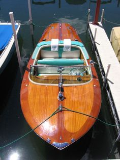 There's something about a classic wooden boat!!