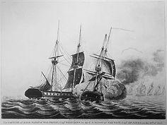Ship in battle.