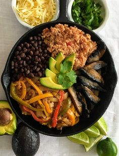 Hearty, flavorful vegetarian fajitas. Easily made vegan and/or gluten-free!